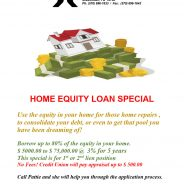 HOME EQUITY LOAN SPECIAL GOOD THROUGH REST OF 2020